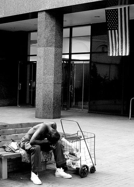 Houseless Individual US Flag