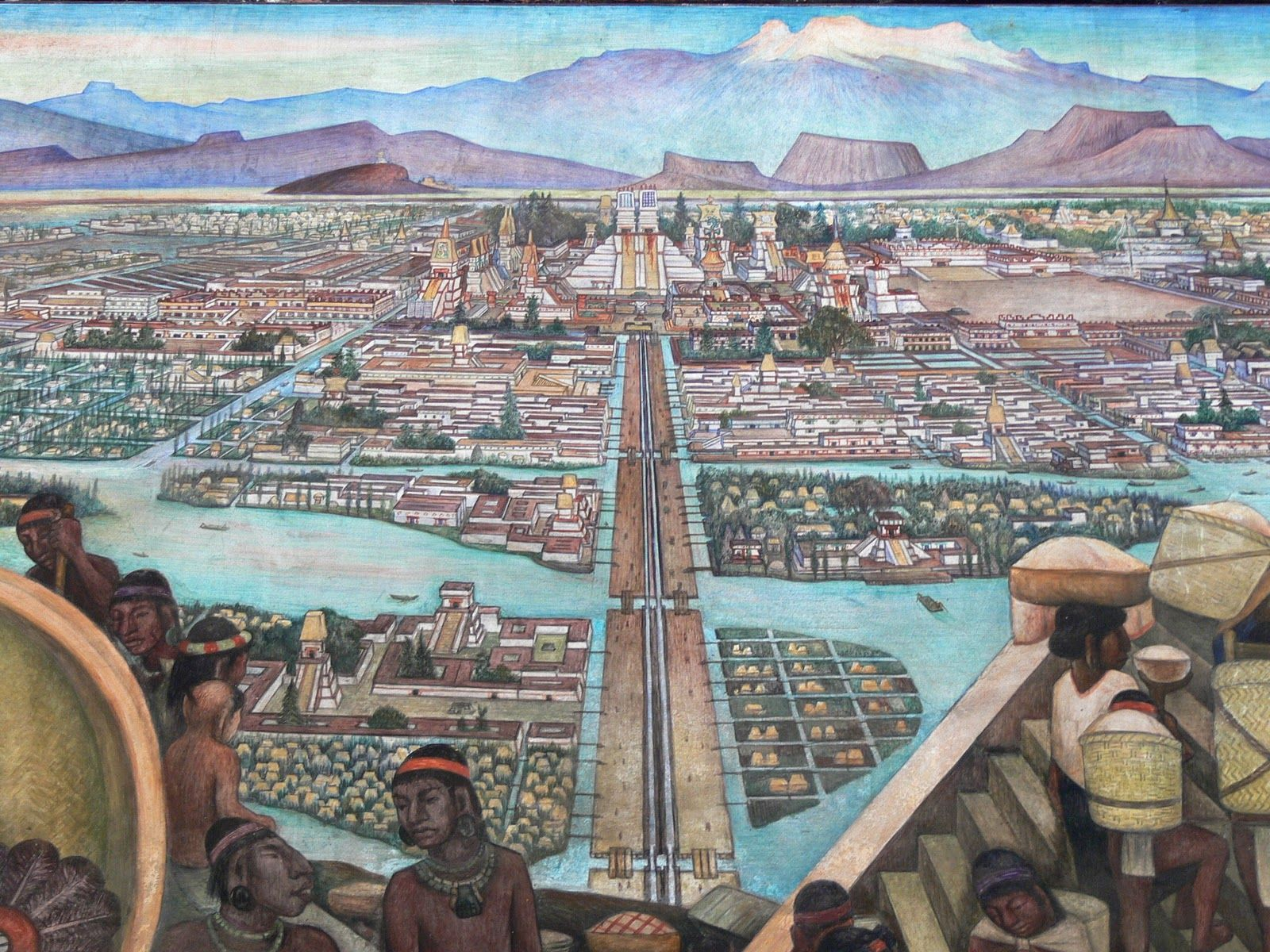 Rendering of Tenochtitlan in its prime.