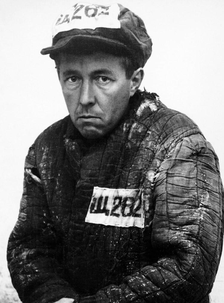 Solzhenitsyn in Prison Uniform After Exile