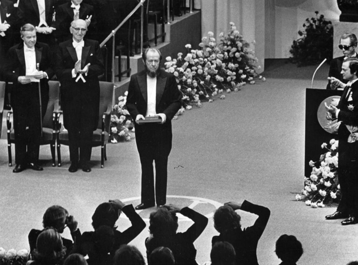 Solzhenitsyn at Nobel Prize Ceremony