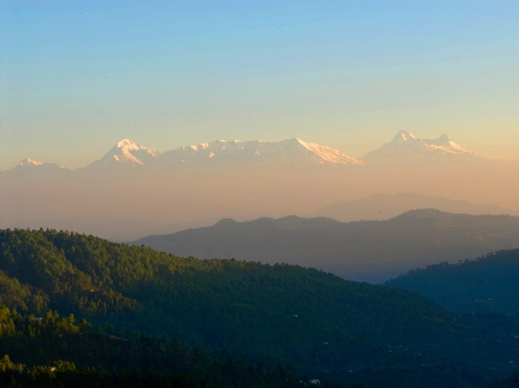 Views of Kumaon Hills in Mukteshwar