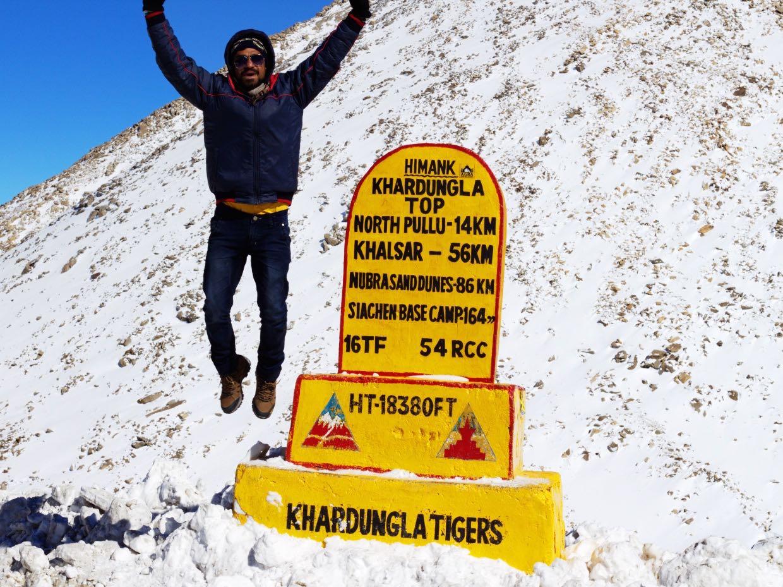 Khardungla Pass in Leh