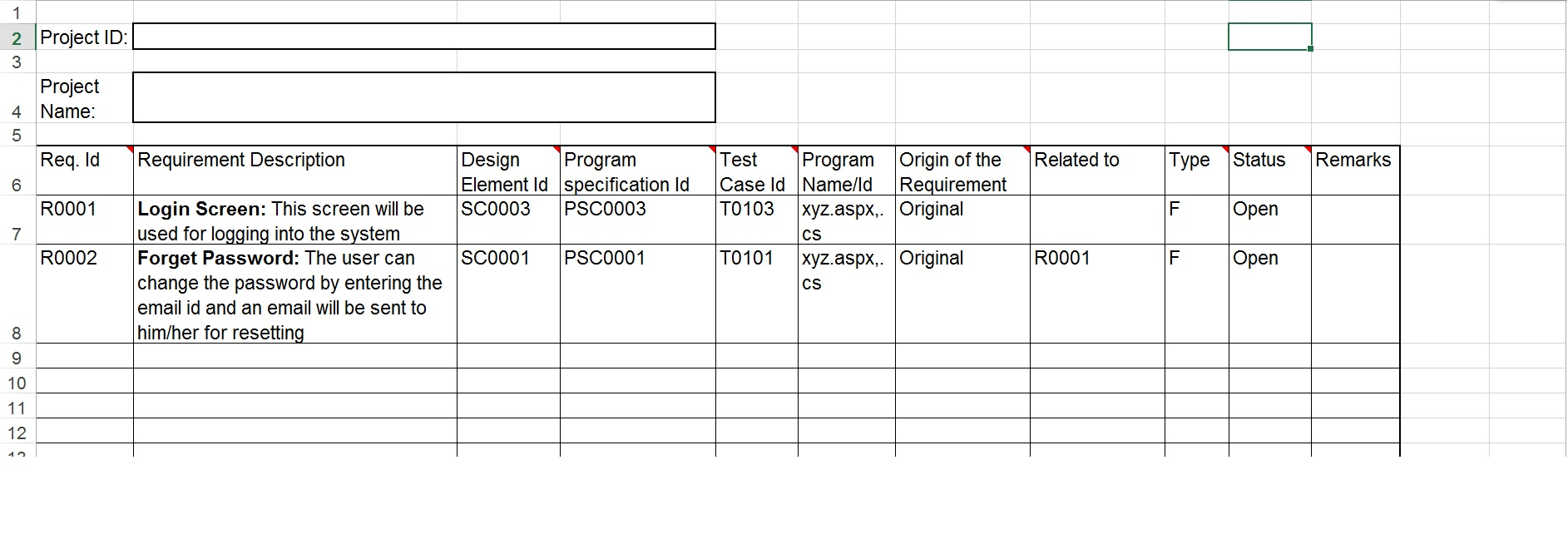Requirement Treacibility Tool