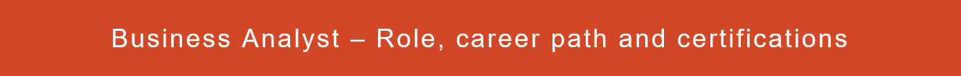 Business Analyst career and growth path