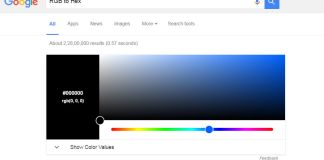 Search Engine Giant adds an RGB to Hex converter to its Google Search