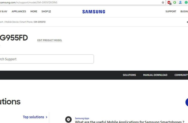 Samsung Galaxy S8 Plus official support page live on Samsung India website
