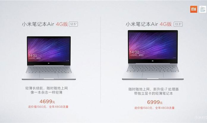 Xiaomi Mi Notebook Air 4G with Windows 10 launched in China: Price, Specs, and More