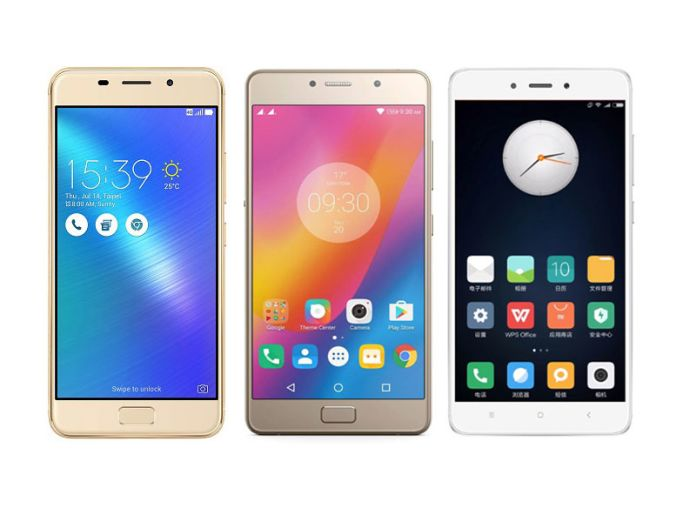 Asus Zenfone 3S Max vs Lenovo P2 vs Xiaomi Redmi Note 4: Comparison table
