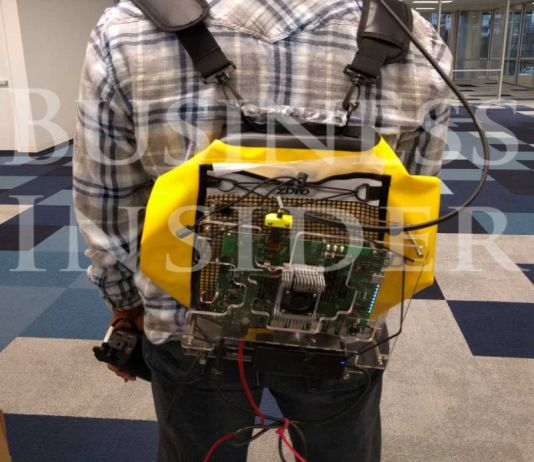 The first Photo of Magic Leap AR prototype leaks out, backpack and all
