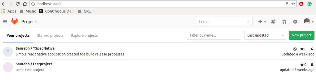 Gitlab on localhost