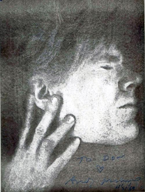Andy Warhol self-portrait, 1969