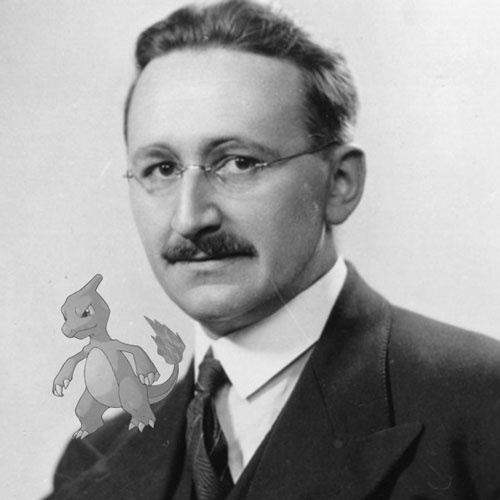 F.A. Hayek with a Charmeleon