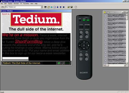 WebTV Tedium
