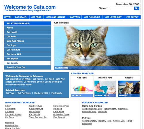 Cats.com December 2006