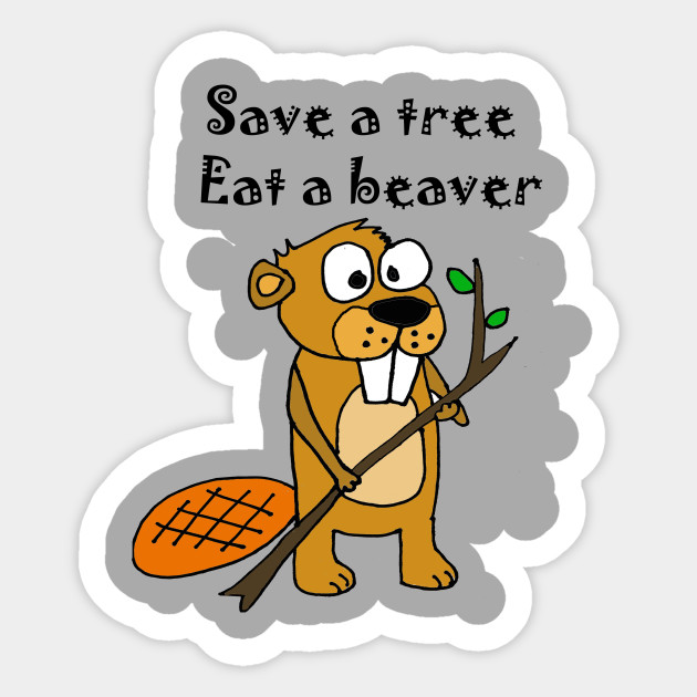 Beaver tree cartoon