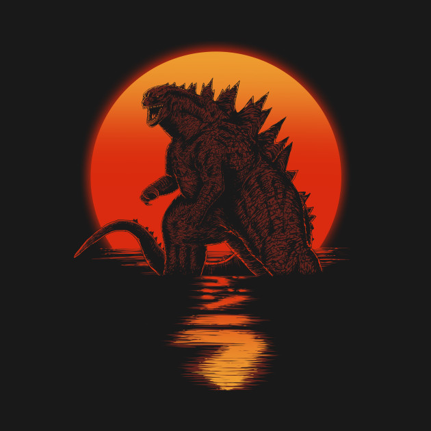 Kaiju On Sunset T-Shirt thumbnail