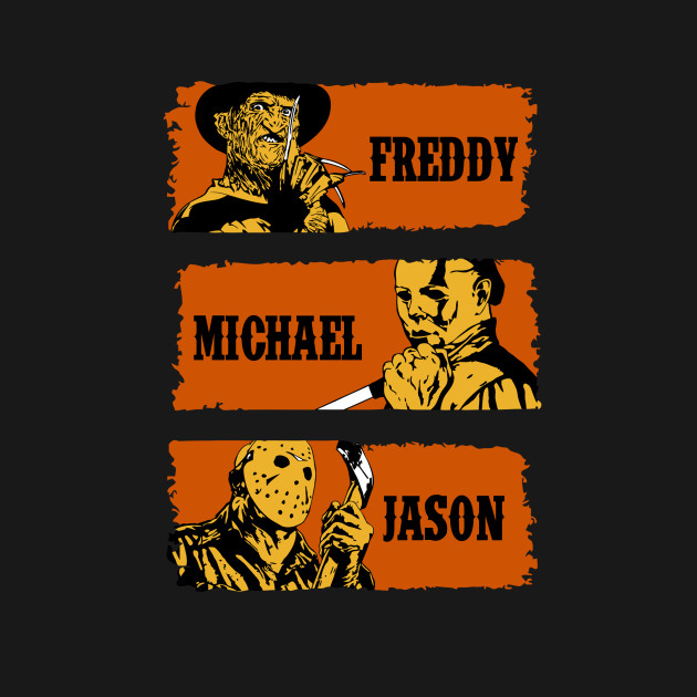 Freddy, Michael And Jason T-Shirt thumbnail