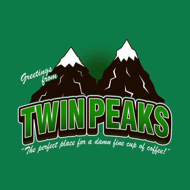 Greet. Twin Peaks (V2) - Green T-Shirt thumbnail