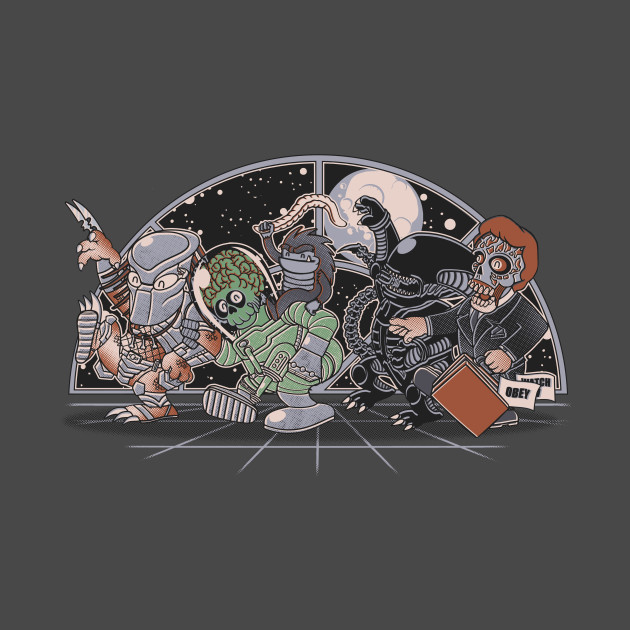 Where The Nasty Aliens Are T-Shirt thumbnail