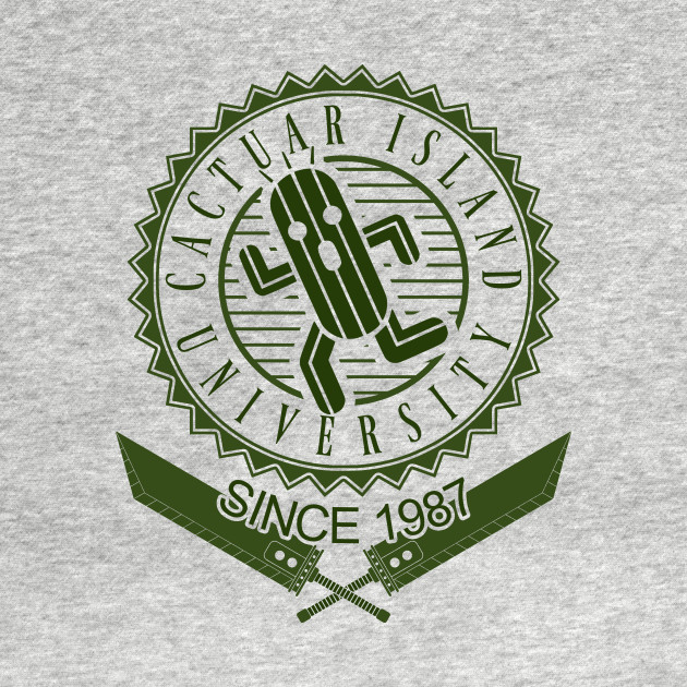 Cactuar University Bright Version T-Shirt thumbnail