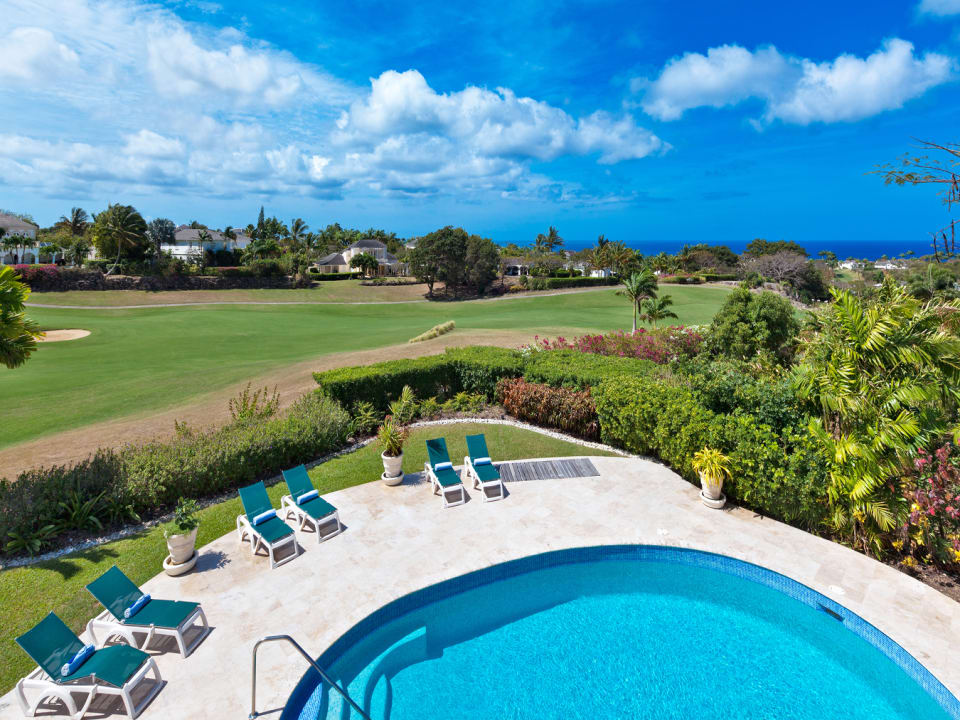 Views of the 16th Fairway and Caribbean sea beyond