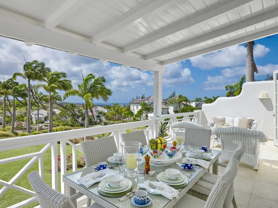 Great sea views from veranda