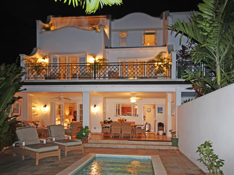 Night view from private pool