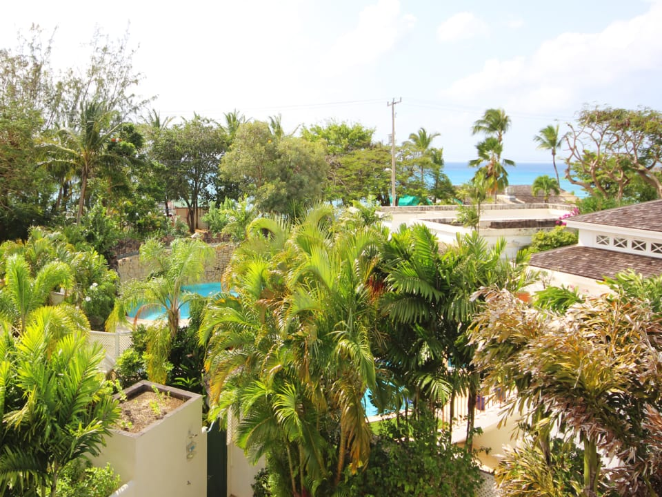 View of Mullins Bay and Beach from upstairs balcony