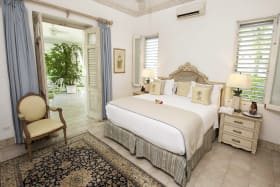 Master bedroom opens to verandah