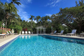 Large pool deck and gazebo