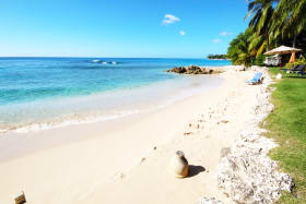 Beach with excellent swimming steps from Unit 3