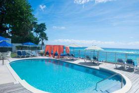 Inviting pool and stunning sea views