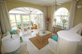 View from the kitchen and inside dining area