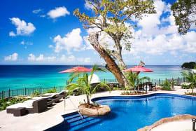 Meandering pool with ocean view