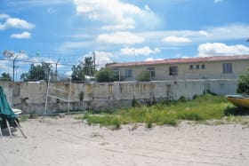 View of site from beach