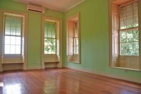 Bedroom with gorgeous hardwood floors