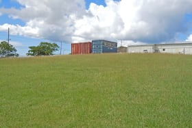 Land behind office & warehouse