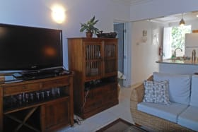 Well appointed living room - large TV