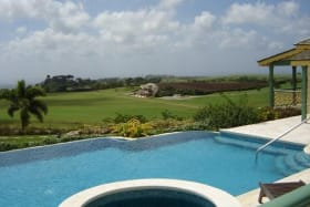 POOL AND TERRACE WITH A VIEW OF THE POLO FIELD