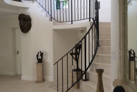 SPIRAL STAIRCASE LEADING UPSTAIRS