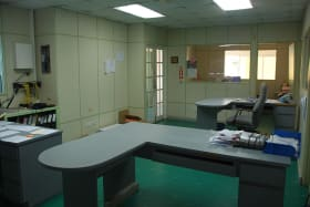 Upstairs offices