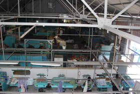 View of laundry plant from offices