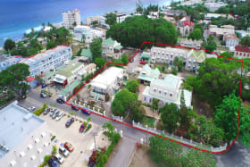Property outlined in red - 1/2 block from Barbados Hastings