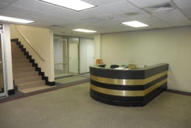 Reception on first floor