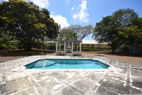 Large pool and surrounding garden