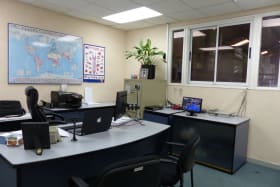 Executive office. View into the Warehouse