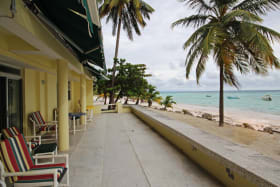 Sea front open patio
