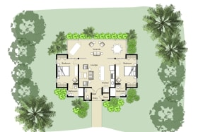 Floor Plan of Cottages