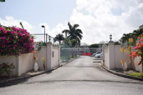 Gated Entrance to Crystal Court Apartments