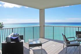 Balcony with sea views